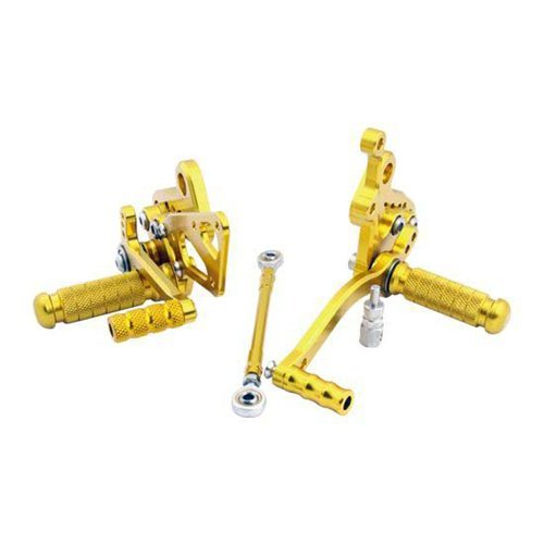 Wotefusi Motorcycle New Aluminum Footrest Footpeg Foot Pegs Set Kit For Suzuki GSXR1300 HAYABUSA 2008