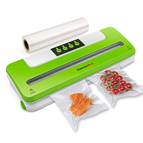 ThermoPro TP8101 Automatic Food Vacuum Sealer Machine with Sealing Bag Food Vacuum Sealer for Dry and Wet Food Preservation, Green