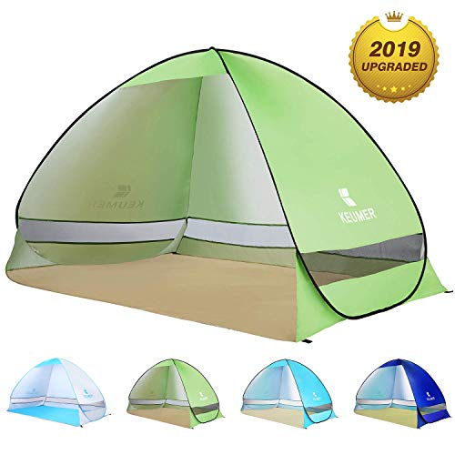 BATTOP Pop Up Beach Tent Sun Shelter Cabana Anti UV Beach Shelter for 2-3 Person Outdoor Sets up in Seconds(Green)