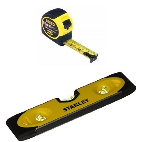 Stanley 33-725 25-Feet FatMax Tape Measure with 43-511 Magnetic Shock Resistant Torpedo (Shock Resistant Tape Measure)