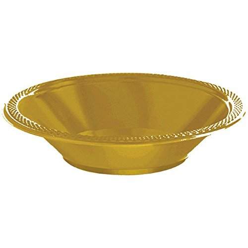 Soup Of Bowl Costume (Reusable Party Plastic Bowls Tableware, Gold, 12oz , Pack of)