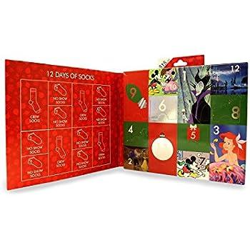 12 Days Of Christmas Socks.12 Days Of Socks Women S Disney Size 4 10 Advent Calendar Stocking Stuffer
