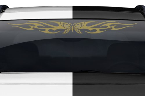 Sticky Creations - Design #116-01 Butterfly Tribal Flame Windshield Decal Sticker Vinyl Graphic Back Rear Window Banner Tailgate Car Truck SUV Van Go Cart Boat Trailer Wall | 36