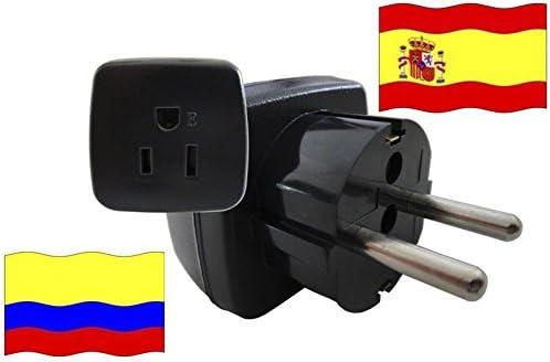 Adaptador de Viaje a España de Colombia ES-CO Enchufe de Viaje ...