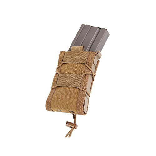 High Speed Gear Belt Mounted Single Rifle Mag Taco Pouch - Coyote Brown