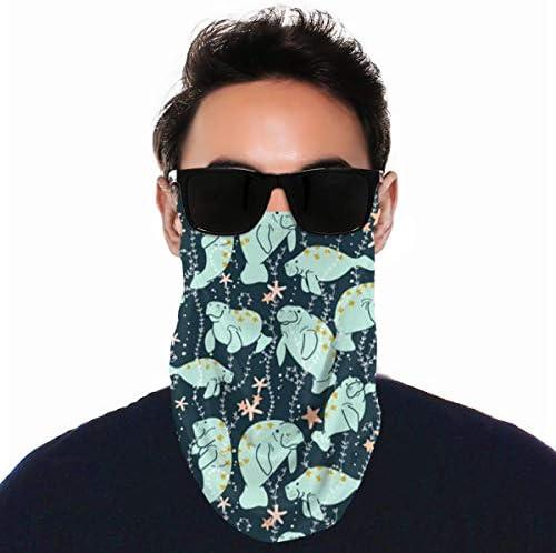 フェイスカバー Uvカット ネックガード 冷感 夏用 日焼け防止 飛沫防止 耳かけタイプ レディース メンズ Spearmint Green Manatee