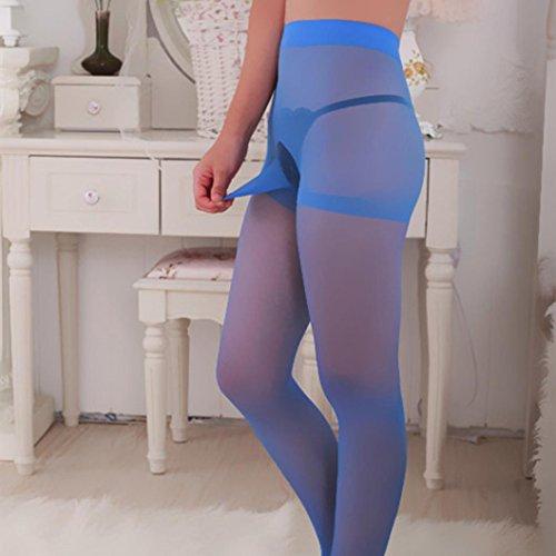 Fodera Viola Free size Lingerie nylon di collant sexy Donna da di siamese da collant Blu uomo Fami tZt6qwO
