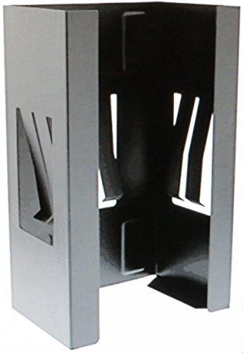 Magnetic Glove Box Holder Organizer-Black Wall Mount Dispenser, for Latex, Nitrile, Plastic Shop Gloves and Tissue Boxes