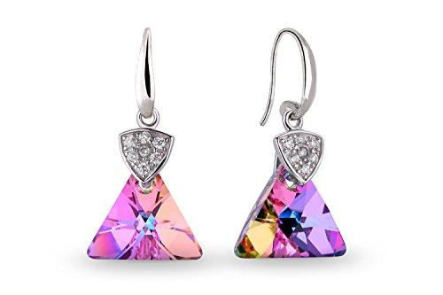 Ana Morales Boucles d'oreille pour femme avec cristaux Swarovski® exclusifs - Argent sterling 925