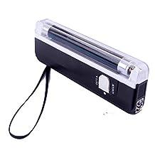 HDE Mini Portable Black Light 395 nm UV Ultra Violet Stain + Counterfeit Detection Flashlight