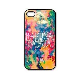 Case/Cover - Hakuna Matata Pattern Plastic Hard Case Cover for iPhone 4/4S