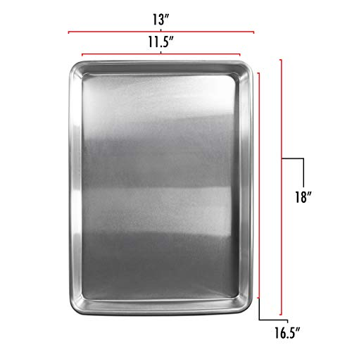 Fat Daddio's SP-HALF Sheet Pan, 13 x 18 Inch), Silver