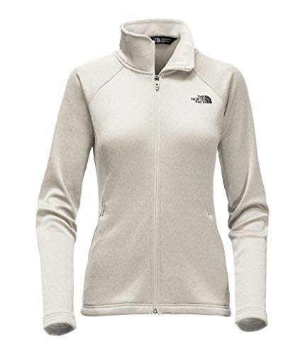 The North Face Women's Agave Full Zip Jacket,Moonlight Ivory Heather, L