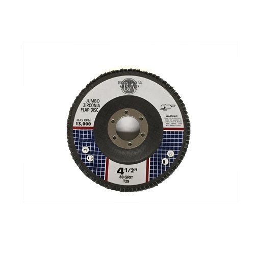 4.5'' x 7/8'' Premium High Density Jumbo Zirconia Flap Disc Grinding Wheel 80 Grit Type 29 - 5 Pack