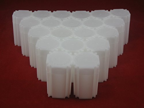 (20) Coinsafe Brand Square White Plastic (Medallion) Size Coin Storage Tube Holders
