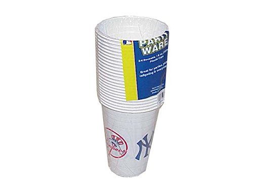 MLB New York Yankees Disposable Plastic Cups Pack Of 24