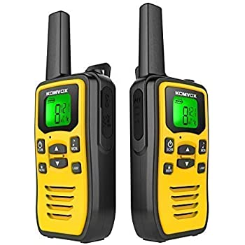 Professional Rechargeable Walkie Talkies Long Range for Adults Two Way Radios, 2 Way Radio 22 Channels VOX Scan LCD Display with LED Flashlight Ideal for Biking and Hiking Camping Travel Excursion