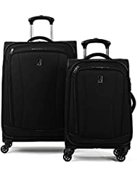 "TourGo Lightweight Softside 2-Piece (21""/25"") Luggage Set, Black"