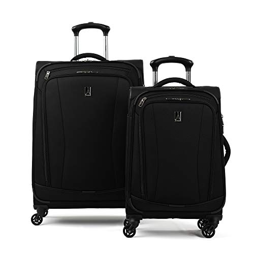 Travelpro TourGo 20' and 25' Softside Spinner Luggage Set, Black