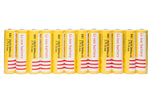 12 Pack of 3.7V 5000mAH 18650 Rechargeab