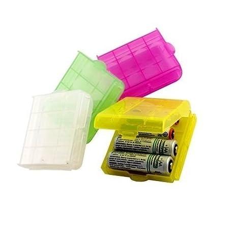 Caja plastico estuches para pila AA-AAA, Cablepelado®