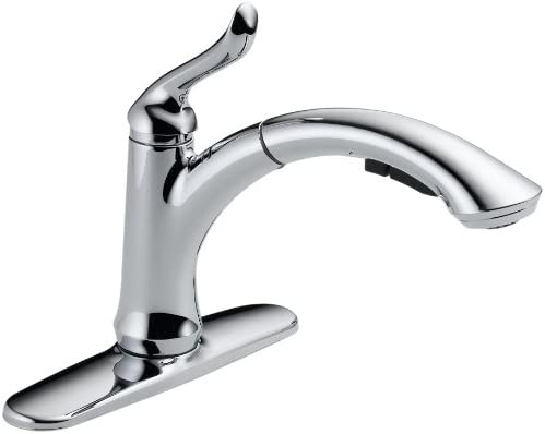 Delta Faucet Linden Single Handle Kitchen Sink Faucet with Pull