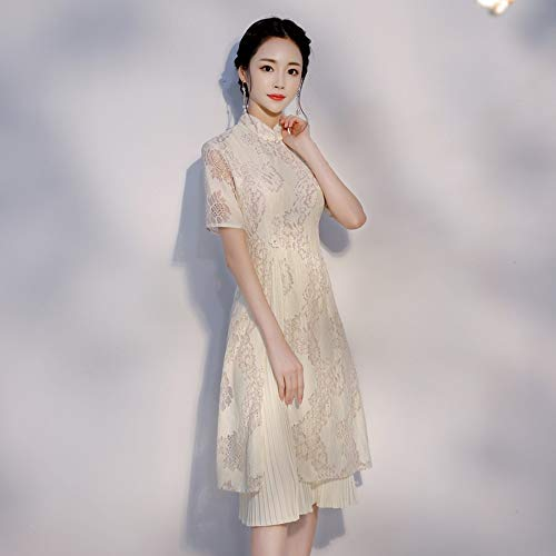 - Ao Dai Cach Tan - Ao Dai Traditional Vietnamese Long Dress Modern Lace Dress Blue Red Champagne Pink Size S M L XL 2XL