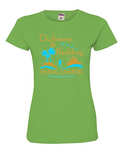 Go All Out Screenprinting Xx Large Apple Womens Dufresne   Redding Fishing Charters Funny Deluxe Soft T Shirt