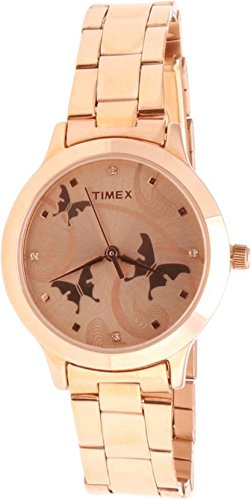 Timex Analogue Gold Dial Women's Watch (Tw000T610)
