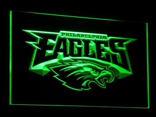TeroLED Philadelphia Eagles Football 30cm x 20cm Led 3D Engraved Neon Sign Green