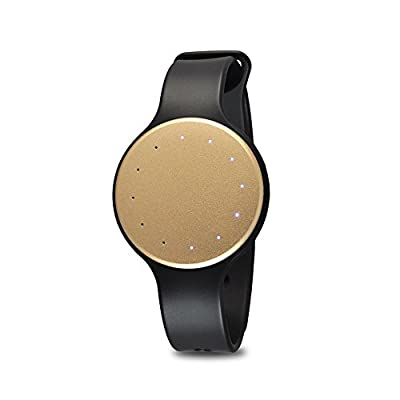 Bluetooth Smart Wrist Watch Tracker - Waterproof Multifunction LED Sports Fit Men Women Sport Running Training Fitness Gear Tracker w/ Sleep Monitor, Pedometer, Calories Burned - Pyle PSB1GL (Gold)