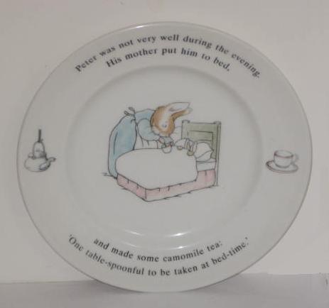 England Bread Plate (Wedgwood Peter Rabbit Original Bread Plate 1993 Frederick Warne)
