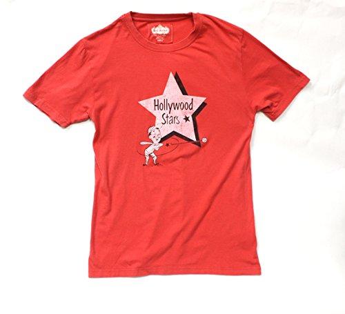 Red Jacket Hollywood Stars Minor League Baseball Retro Design T-Shirt -