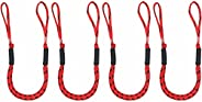 4 Pcs 3.5-5.5 ft Bungee Cord Ropes Stretch Dock Lines Shock Cord for Boat