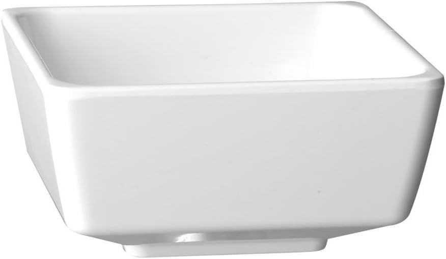 /Cuenco cuadrado color blanco APS gf090/Float/ 2/