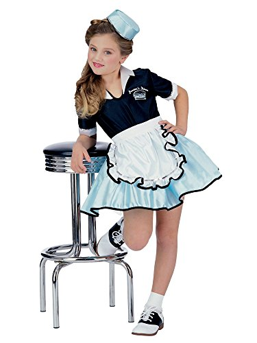 Rubies 50s Favorite Girls Car Hop Costume, Large , Multi -