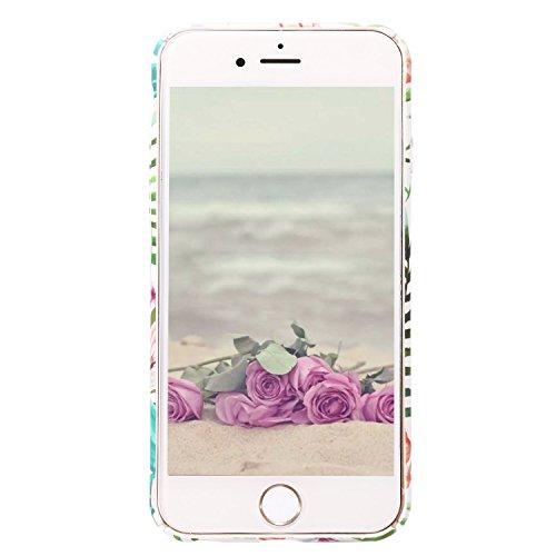 Funda iPhone 6S, Funda iPhone 6, ZXK CO Fundas Protectiva Carcasa de Plástico Duro Cover Case Para Apple iPhone 6/6S 4,7 Ultra-Delgado, Anti-Estático, Resistente Huellas Dactilares Cover Trasero Dise Diseño de Flamencos y palmeras