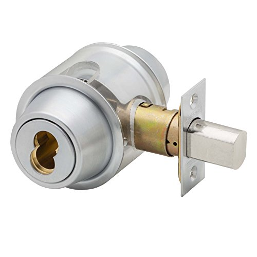 (Schlage B562BD 626 (SFIC) Series B500 Grade 2 Deadbolt Lock, Double Cylinder Function, Small Format Interchangeable Core, Satin Chrome Finish )