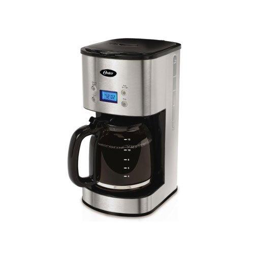 Oster COMINHKPR95607 12-Cup Programmable Coffee Maker BVST-JBXSS41-Stainless Steel, 1, Black, Silver