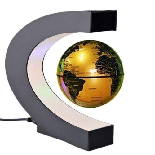 FidgetGear Floating 8 LED Light/C Shape Magnetic Levitation World Map Map Light Decor Floating Globe 3 Colors 6 inch Blue B07PLT34PB C Shape Golden C Shape Golden, イズミグン:ab806cff --- 2017.goldenesbrett.net
