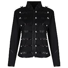 Women's Ladies Steampunk Military Punk Parade Jacket