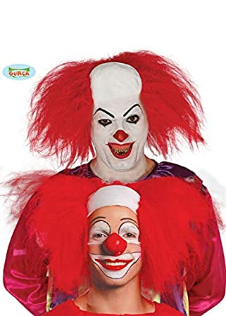 Magic Box Pennywise Style It Clown Peluca roja Casco Calvo