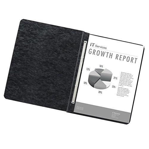 60/% Recycled Office Depot Pressboard Side-Bound Report Binders with Fasteners Pack of 10 A7025125 Black