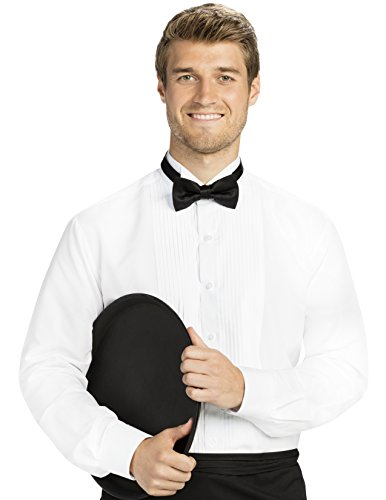 Men's Regular Fit 1/4 inch Pleated Tuxedo Shirt, Wing - Shirts And Tall Tuxedo Big