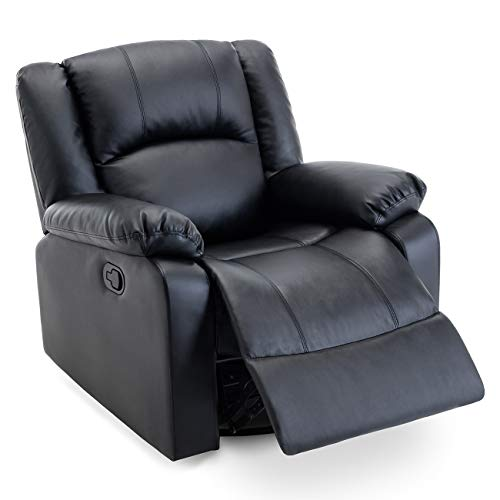 Belleze Swivel Glider Faux Leather Rocker Recliner Chair Overstuffed Armrest Backrest, ()