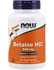 Now Foods Betaine HCL 648mg, Capsules, 120ct