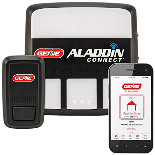 Genie Aladdin Connect - Smart Garage Door Opener - Compatible with Amazon Alexa and Google Assistant - Monitor, Open and Close from Anywhere with a Smartphone (iPhone or Android),(Item Ships in Bag) Diy Garage Door Opener