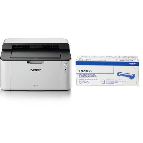 Brother HL-1110 Stampante Laser Bianco e Nero, Formati Stampa Supportati A4 HL1110 Compatta FormatoA4 Monocromatica