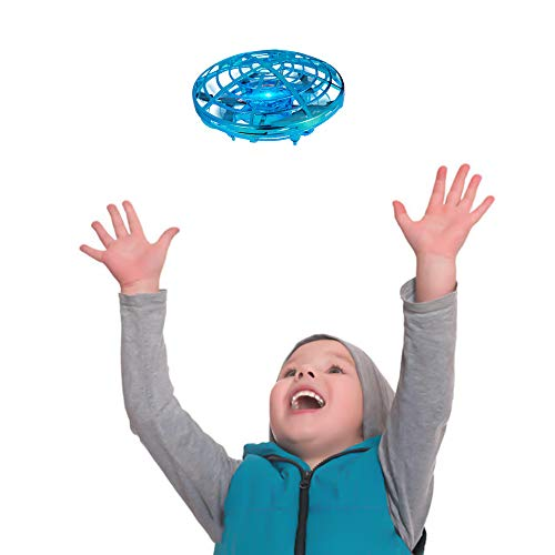 OMWay Hand Operated Drone for Kids, Mini Self Flying UFO Drone, Outdoor Flying Toys for Toddlers,Best Birthday Gifts for Boys Girls ,2 Speed Hand Controlled RC Toy with Shining LED Lights.