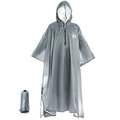 Foxelli Hooded Rain Poncho – Wat...